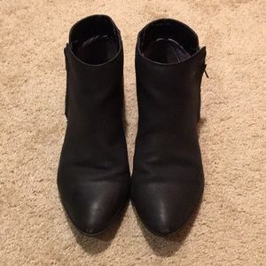 Black Vegan Leather Ankle Boots Size 8